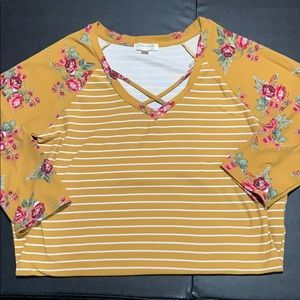 3/4 sleeve top perfect for the summer bonfires!